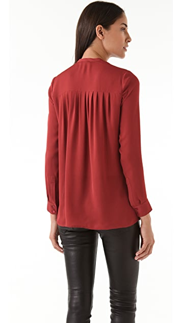 Vince Pleat Back Blouse