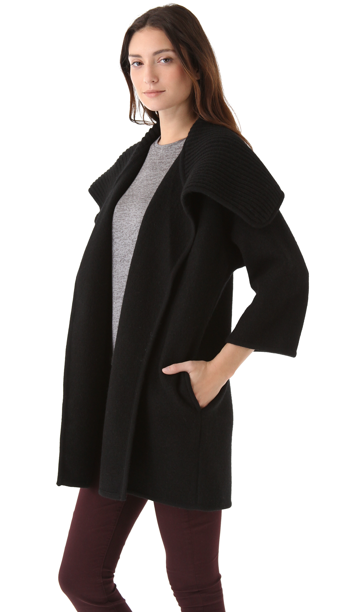 Vince Boiled Wool Sweater Coat Shopbop