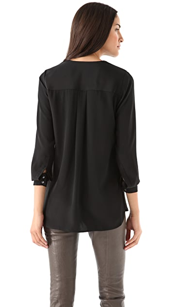 Vince Trapunto Placket Top