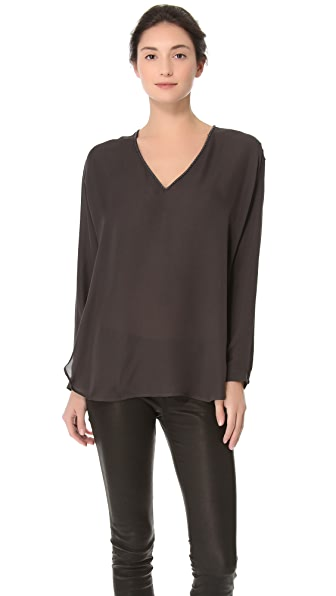 Vince Beaded Long Sleeve Top