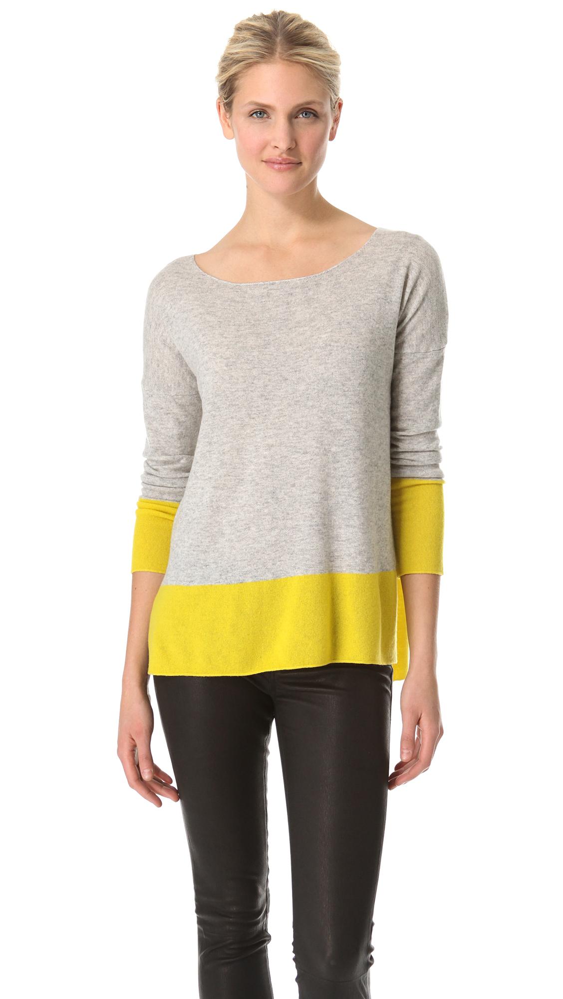 Vince Cashmere Colorblock Sweater  0b6efb6e9