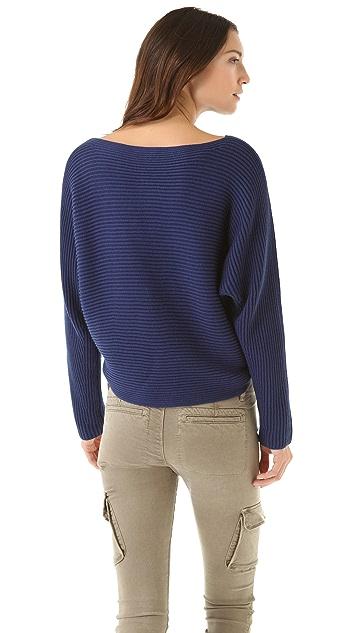 Vince Horizontal Rib Dolman Sweater