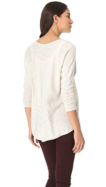 Vince V Neck Slub Sweater