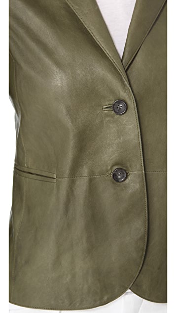 Vince Vintage Leather Blazer
