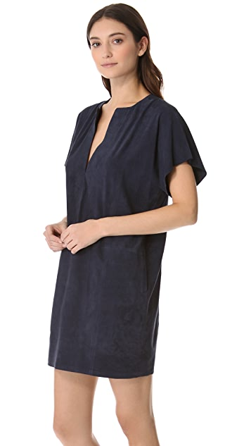 Vince Suede Tunic Dress