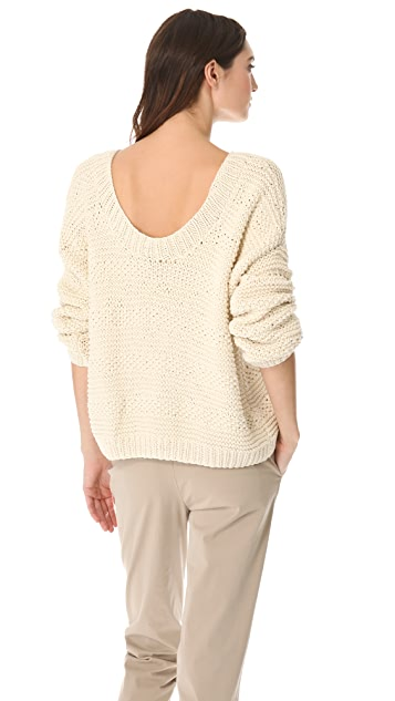 Vince Textured Hand Knit Pullover