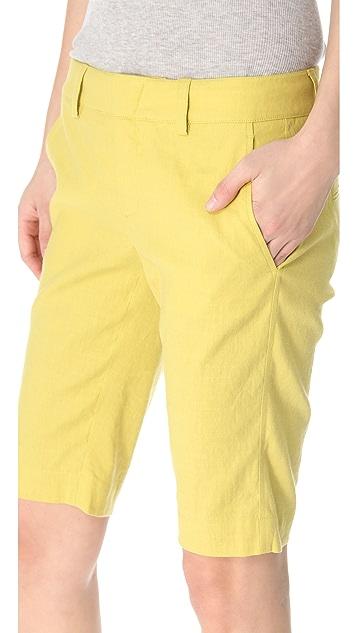 Vince Linen Bermuda Shorts