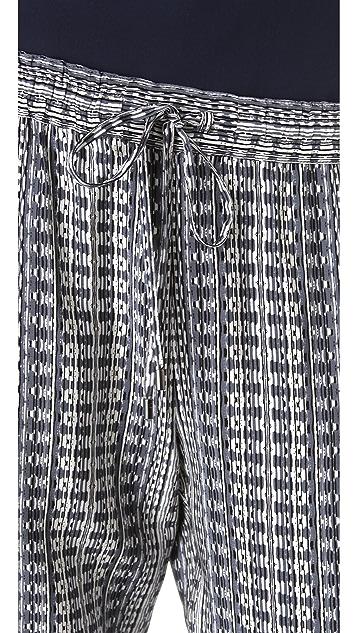 Vince Aztec Print Track Pants