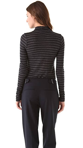 Vince Striped Turtleneck Tee