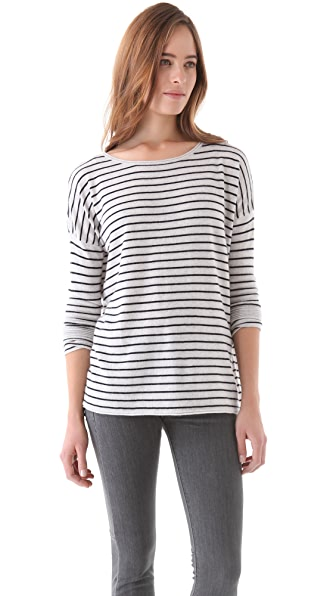 Vince Shirttail Stripe Sweater
