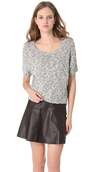 Vince Tweed Cropped Sweater