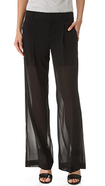 Vince Sheer Silk Trousers