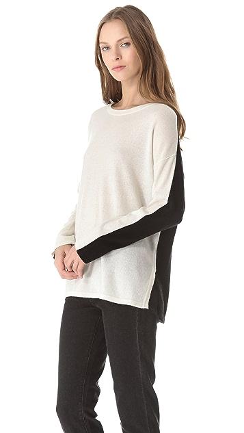 Vince Cashmere Sweater with Slit Hem