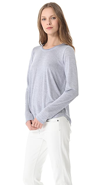 Vince Long Sleeve Shirttail Tee