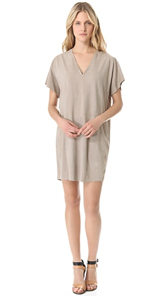 Vince Suede Double V Dress