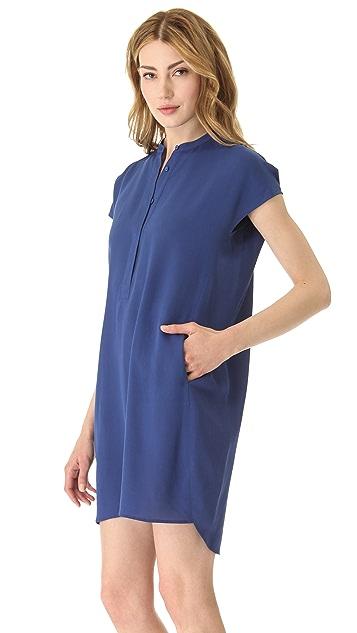 Vince Half Placket Dress