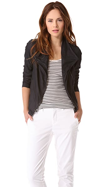 Vince Paper Leather Scuba Jacket Shopbop