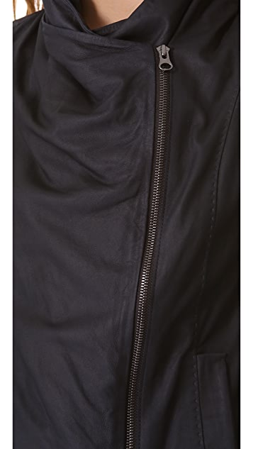 Vince Paper Leather Scuba Jacket