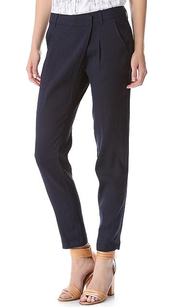 Vince Crossover Linen Pants