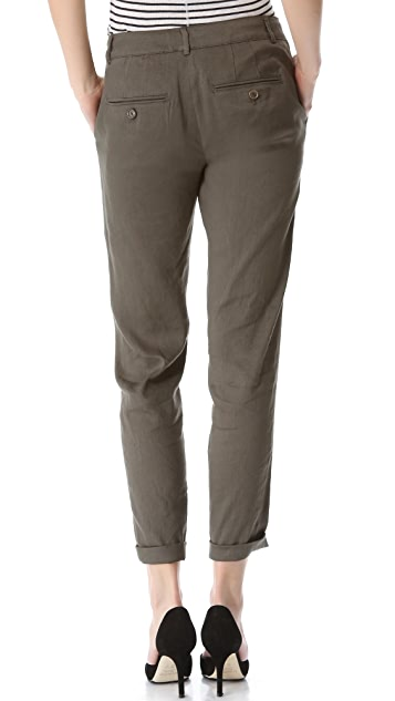 Vince Crossover Linen Pants