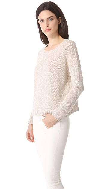 Vince Square Long Sleeve Sweater