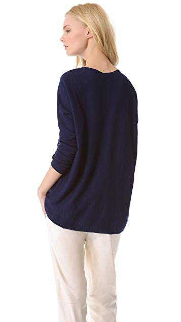 Vince Wide V Slub Sweater