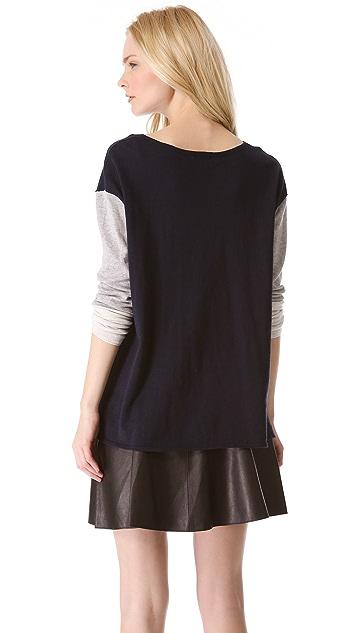 Vince Tri Color Slub Sweater