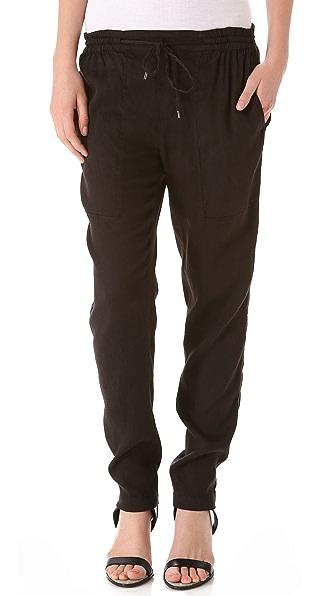 Vince Linen Jogger Pants