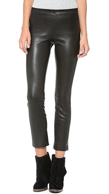 Vince Cropped Leather Leggings