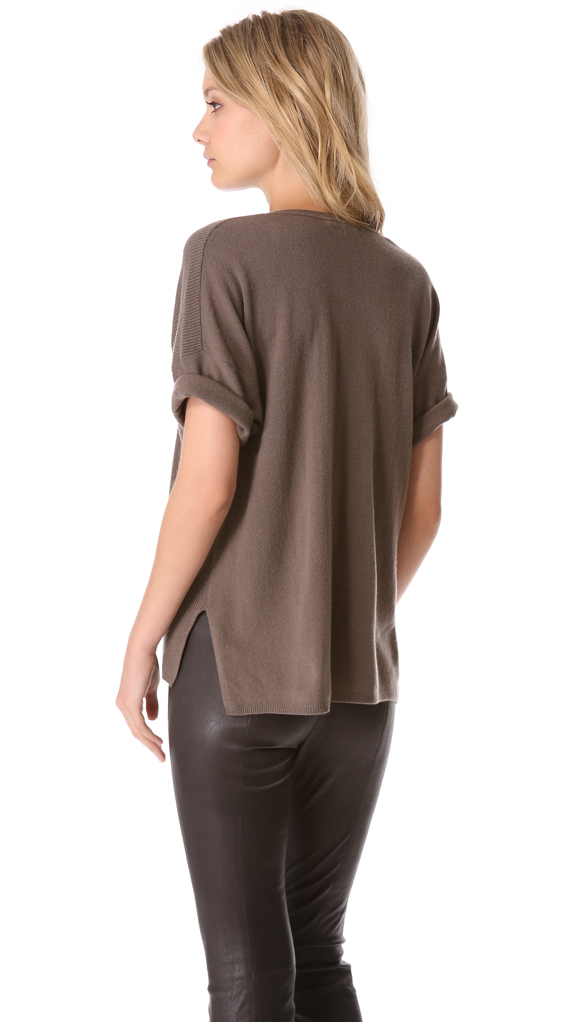 Vince Short Sleeve Cashmere Sweater | SHOPBOP