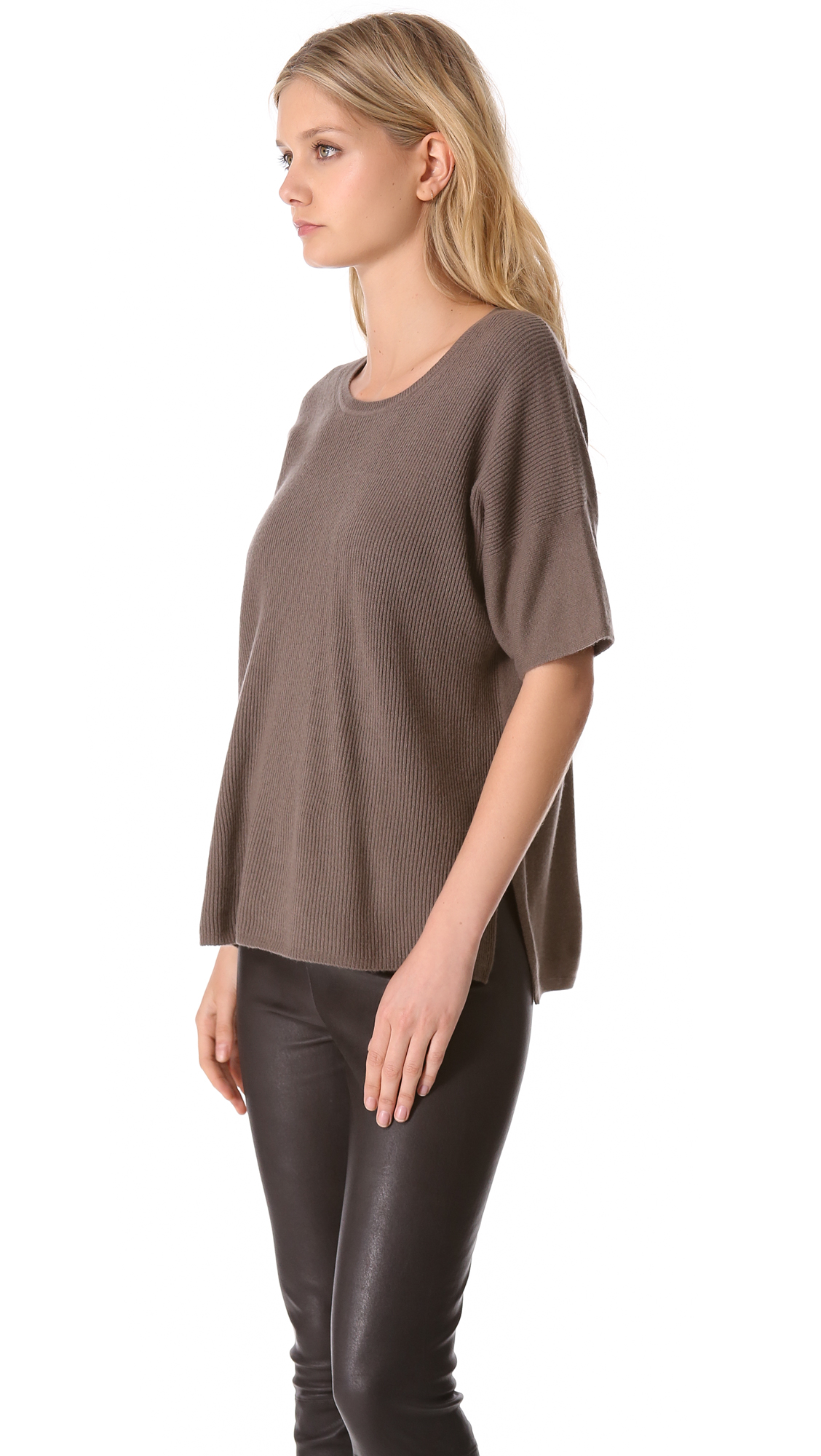 Vince Short Sleeve Cashmere Sweater | SHOPBOP