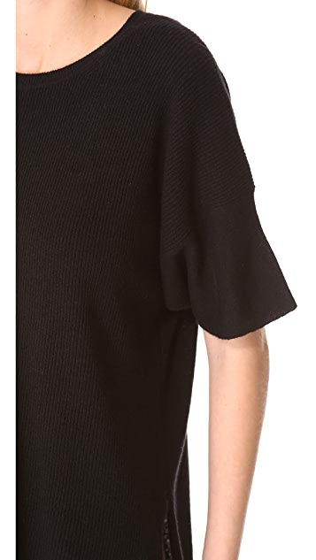 Vince Short Sleeve Cashmere Sweater