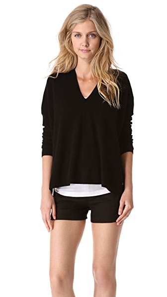 Vince Seamed V Neck Sweater