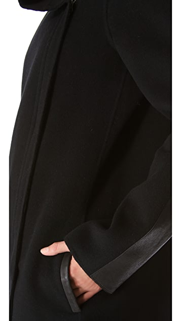 Vince Asymmetrical Collar Jacket