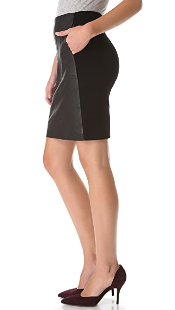 Vince Leather Pencil Skirt