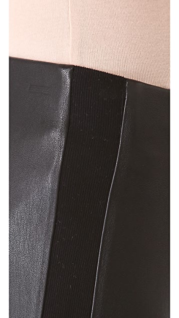 Vince Slim Leather Pants