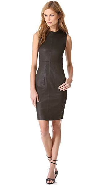 Vince Leather Pencil Dress