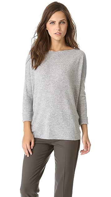 Vince Ribbed Shoulder Cashmere Sweater
