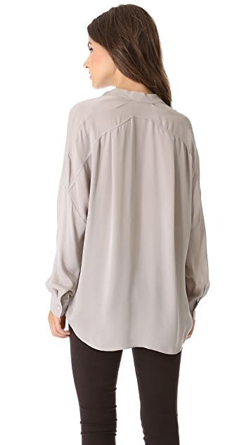 Vince Half Placket Top