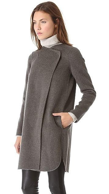 Vince Asymmetrical Shirttail Coat