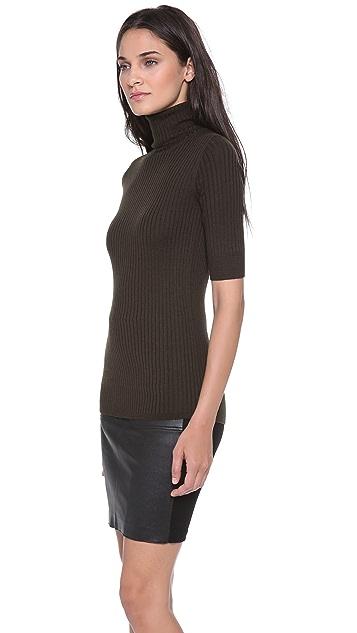 Vince Elbow Sleeve Turtleneck Sweater