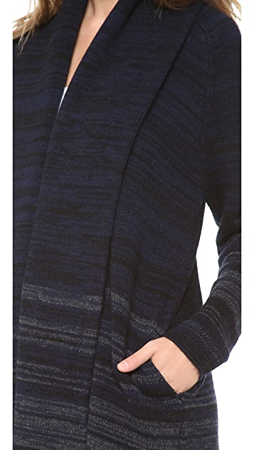 Vince Variagated Stripe Cardigan