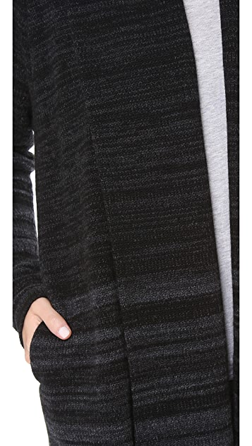Vince Variagated Stripe Cardigan