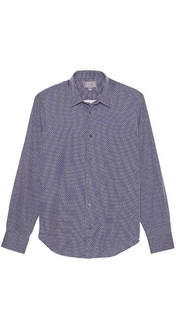 Vince Dot Print Woven Sport Shirt