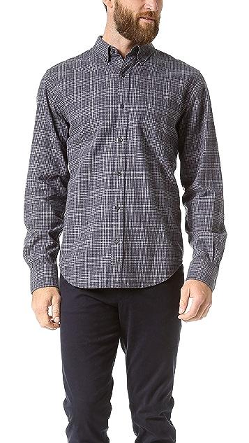 Vince Brushed Cotton Plaid Sport Shirt