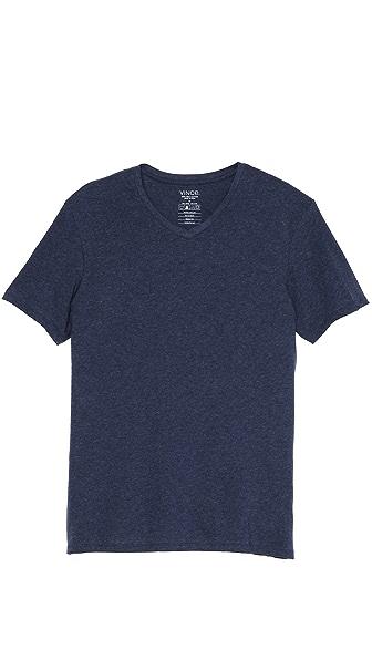 Vince Favorite Heathered V Neck T-Shirt