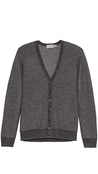 Vince Thermal V Neck Cardigan