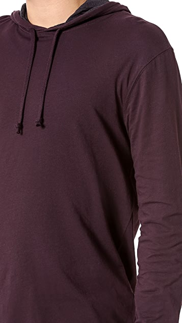 Vince Double Layer Jersey Hoodie