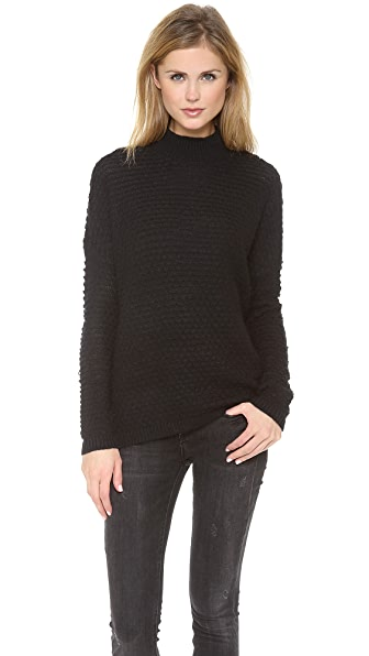 Vince Textured Mock Neck Sweater