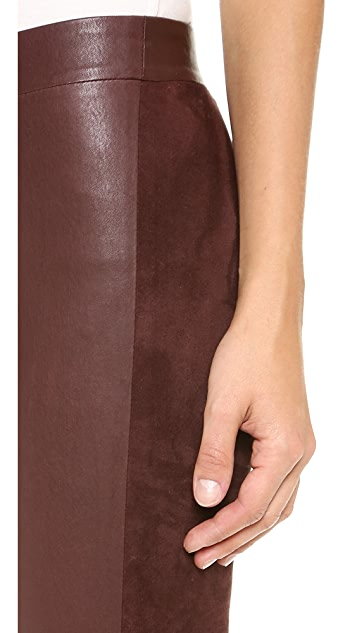 Vince Contrast Texture Leggings